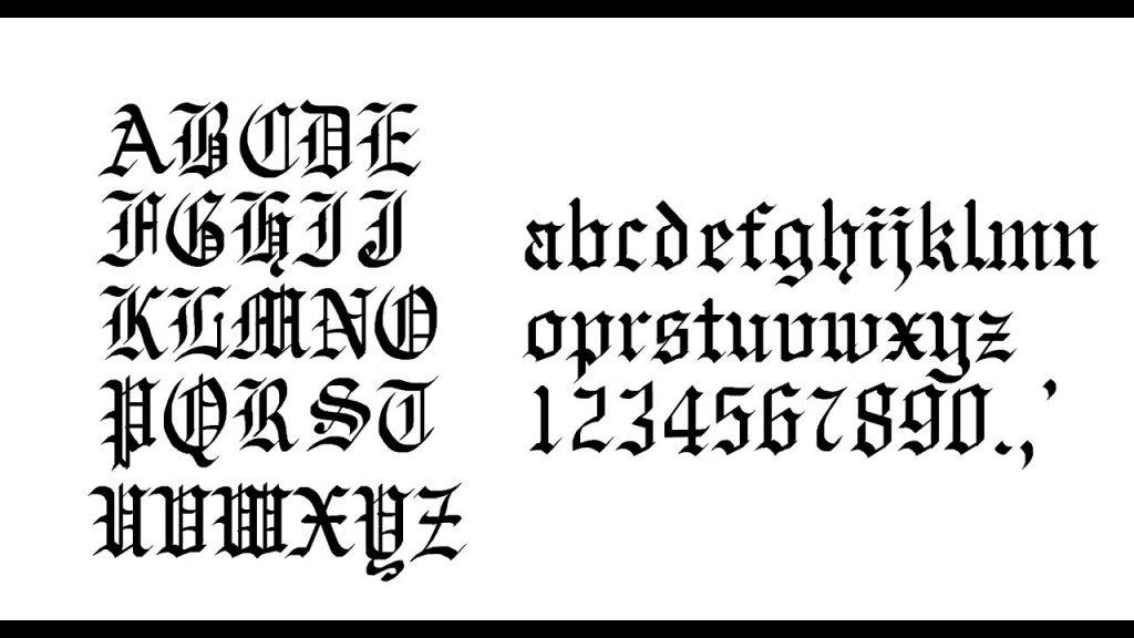 English-calligraphy