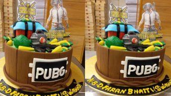 pubg cake topper