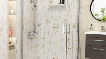 1200 shower screen with sliding door