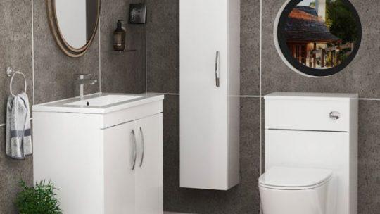 bathroom wall cabinet with mirror